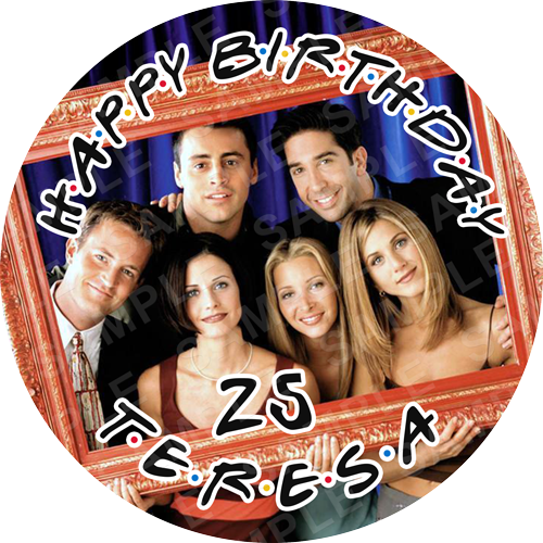 Friends Edible Cake Topper - Friends Edible Image - Round