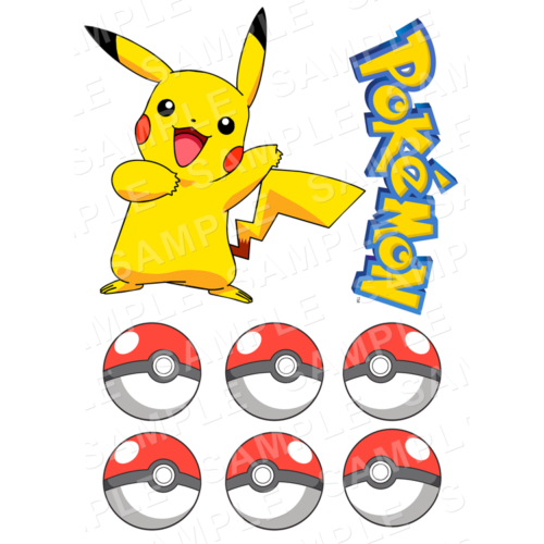 Pokemon Stand Up Edible Cake Toppers - Pokemon Cut Outs - Edible Icing - Wafer Card